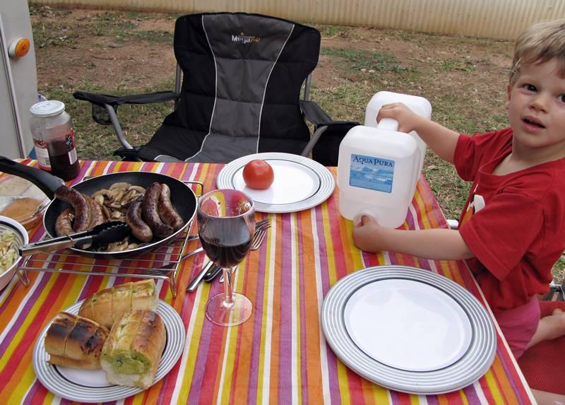 Enjoying lunch after Katherine Gorge cruise