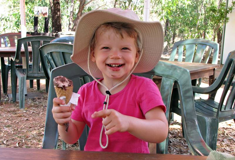 At the end, Nell was rewarded with chocolate ice creams. She deserved it.