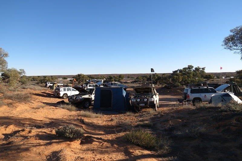 Simpson Desert - outback camping near Poeppel Corner