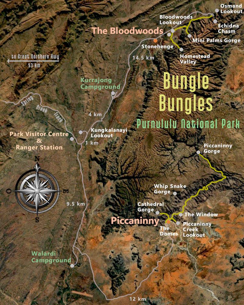 Bungle Bungles Map