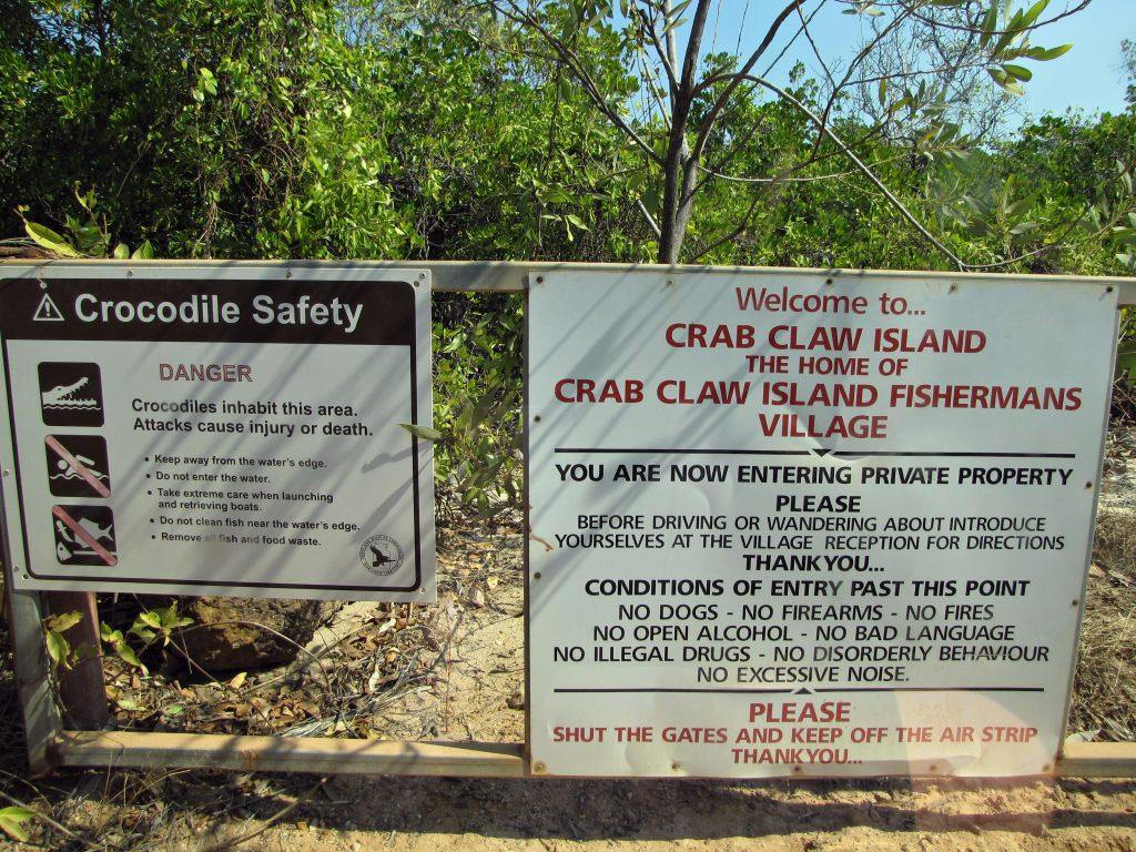 Crab Claw Island Entrance