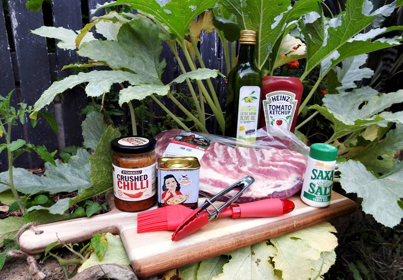 Campfire Roasted Ribs - ingredients