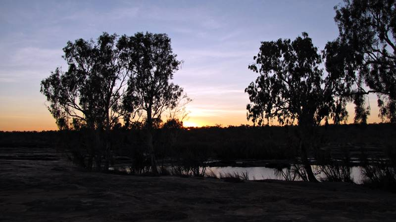 King Edward River at sunset