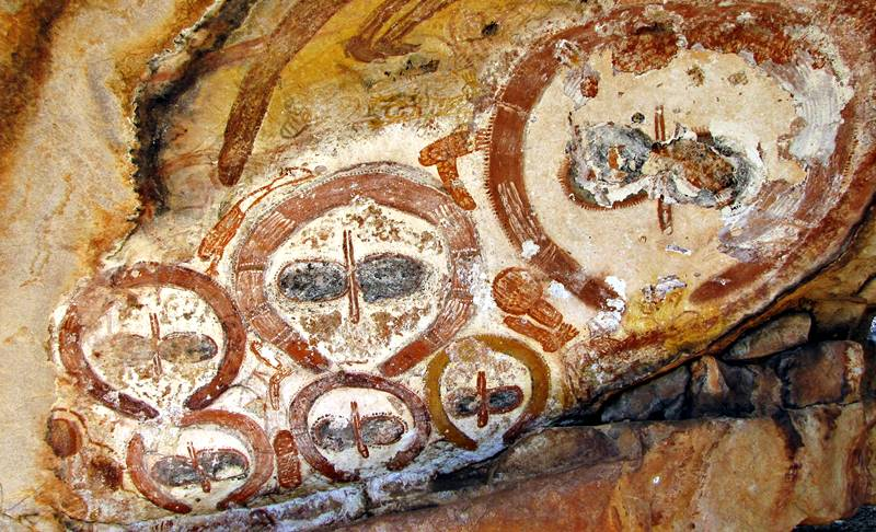 Aboriginal Paintings at King Edward River