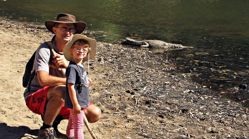 Windjana Gorge - freshwater crocodiles