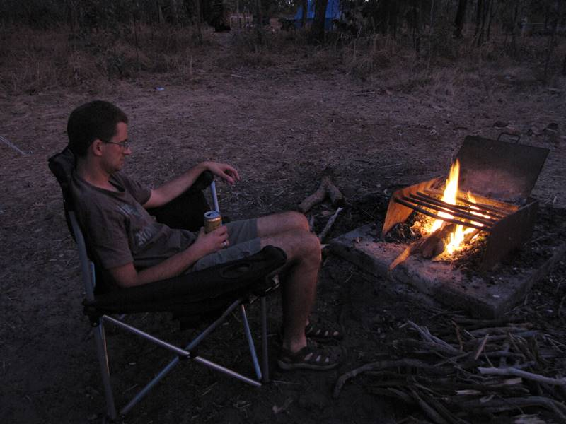 Campfire at Florence Falls Campground