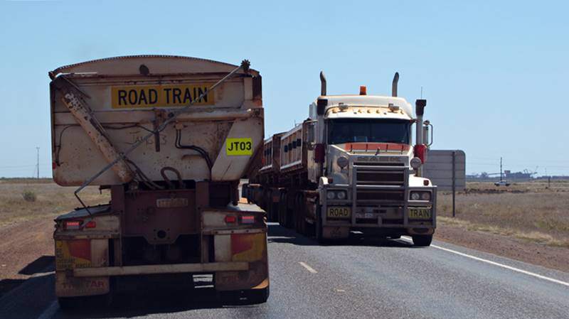 On the way to Port Hedland we spotted more and more road trains