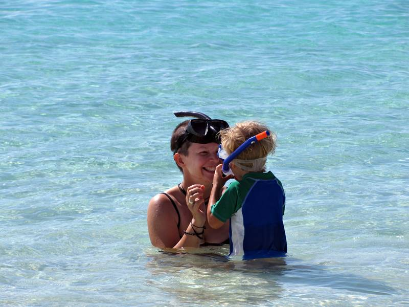 Ningaloo Reef - my girls enjoying the snorkelling