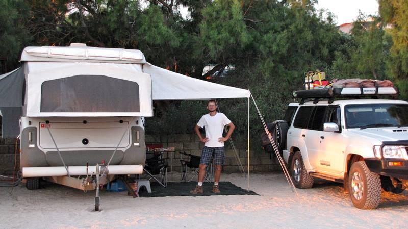 Denham - our camp