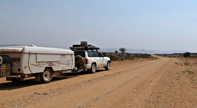 Uluru was still hidden behind the smoke so we drove to Kings Canyon