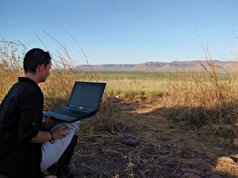 Blogging in the middle of nowhere