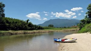 Kayaking at Babinda