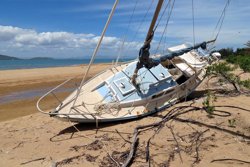 Ashore boat on Magnetic Island