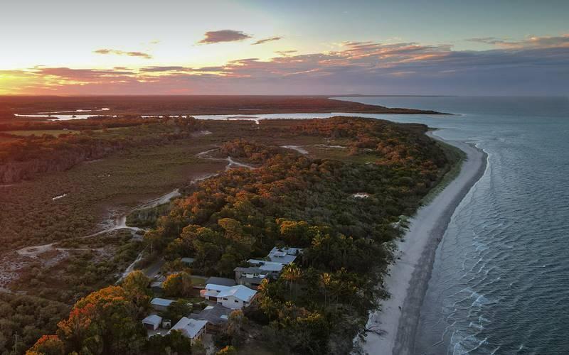 Woodgate Beach from air