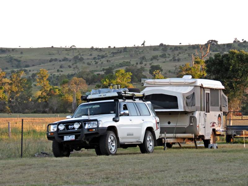 Our rig parked at the Moonford homestead