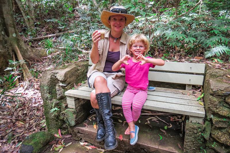 Kasha and Nell at the Mary Cairncross Scenic Reserve