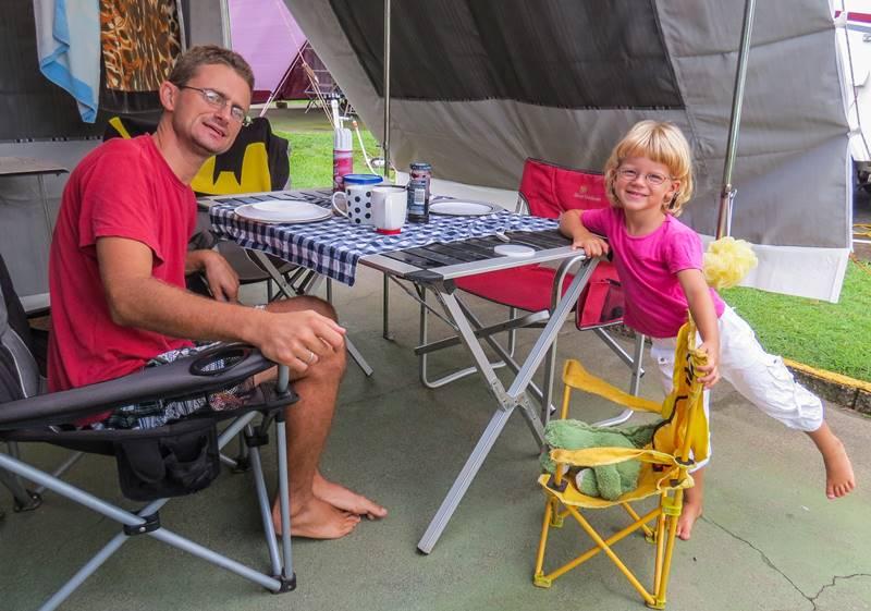Newmarket Caravan Park in Brisbane - getting ready for new life in Brisbane