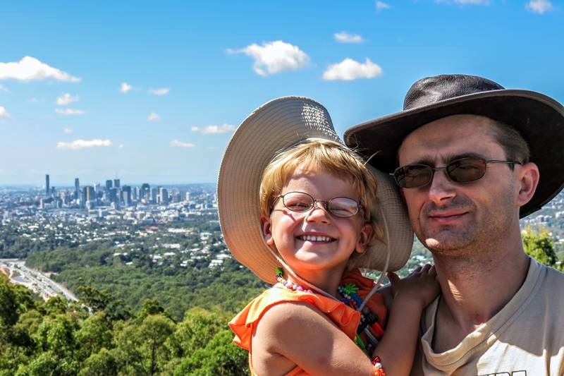Marius & Nell at Mount Coot-tha