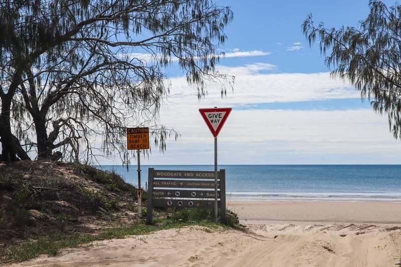 Burrum Coast National Park - Beach Entrance