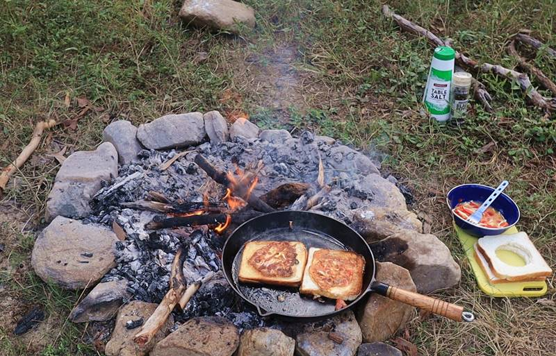 Breakfast Stuffed Toasts - Done