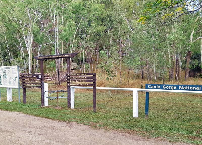 Cania Gorge National Park - Entrance for Walks from Cania Gorge Tourist Retreat