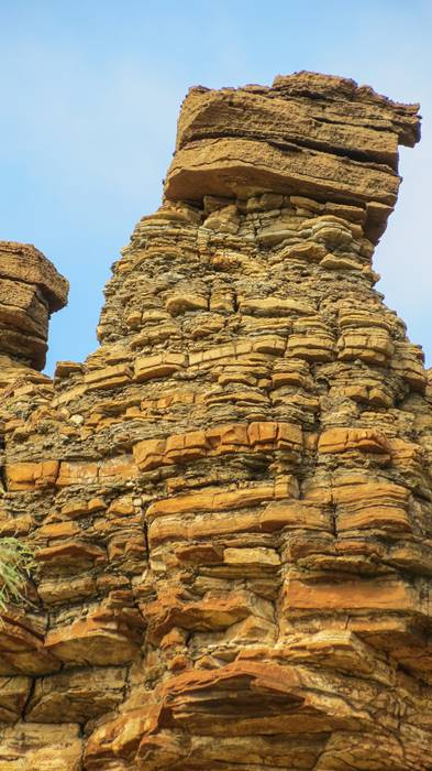 Sandstone formations are unique in around Lawn Hill National Park