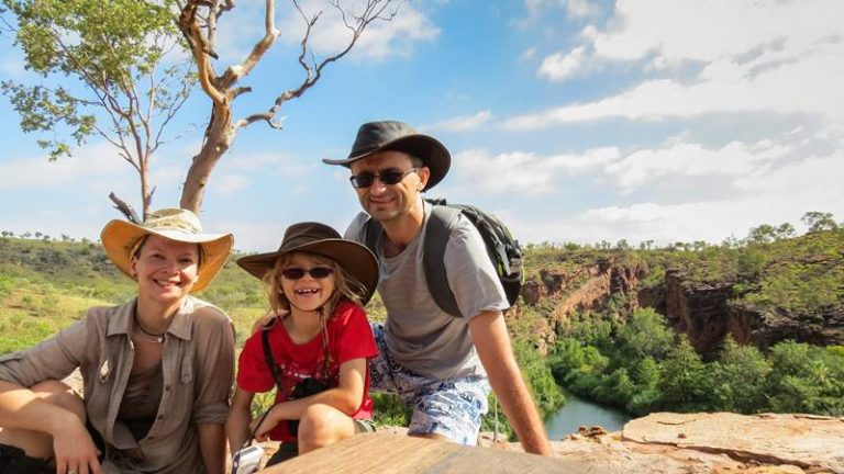 Kasha, Marius and Nell at Upper Gorge Lookout - this place is really amazing