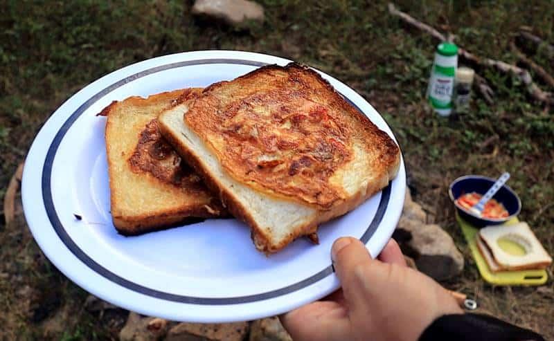 Breakfast Stuffed Toast Recipe