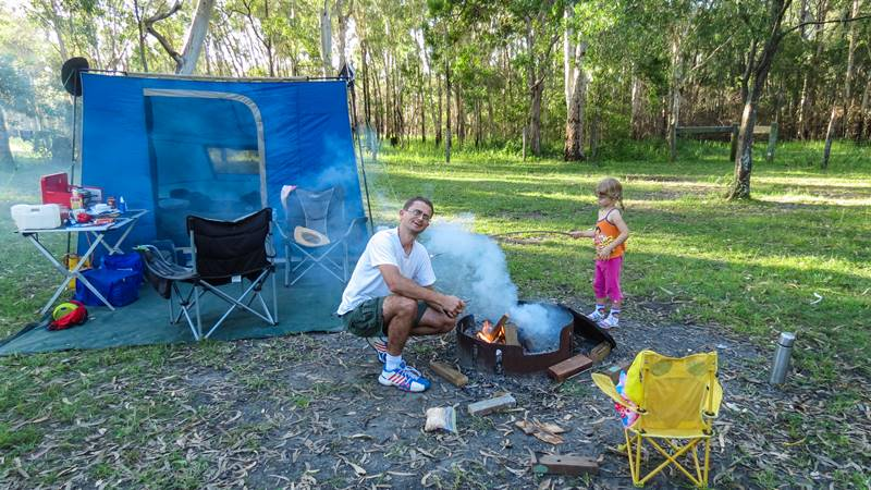 Campfire at Poverty Creek