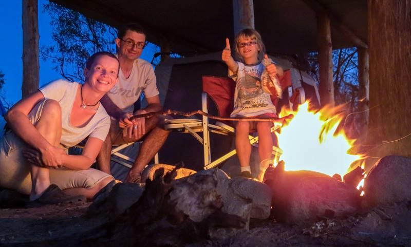Campfire at Seven Emu Station