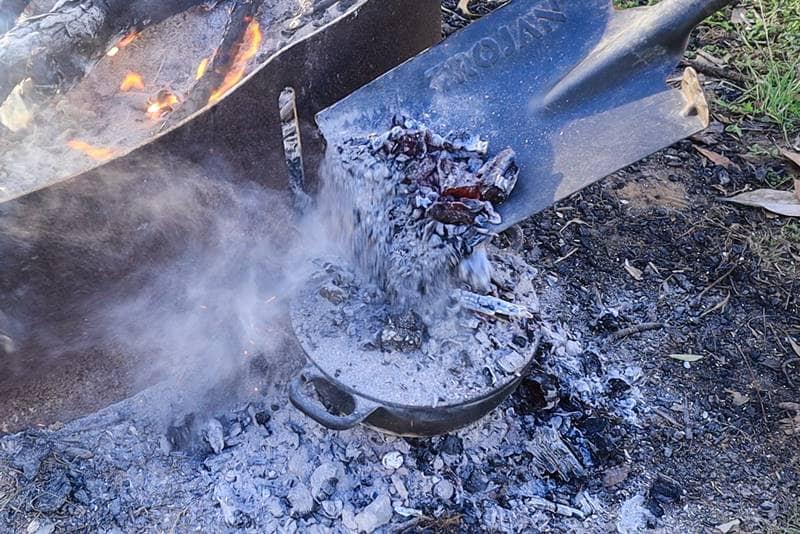 Dutch Oven Goulash - Campfire