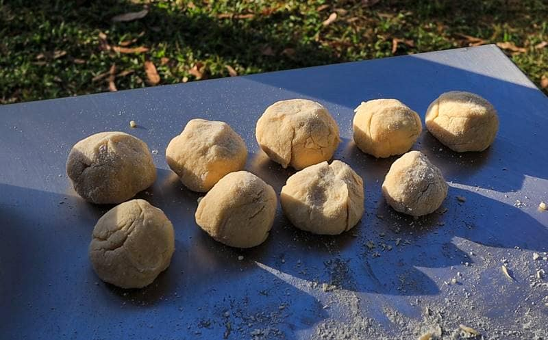 Dutch Oven Goulash - Dumplings