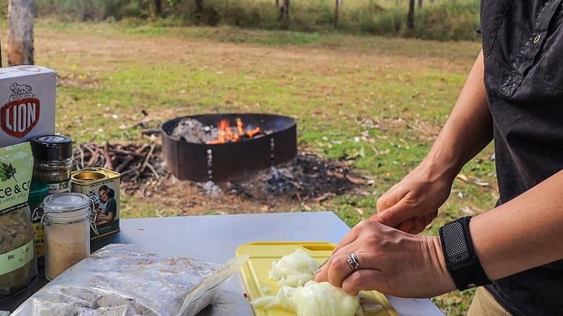 Dutch Oven Goulash - cut onion