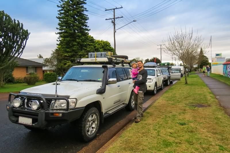 Brisbane to Birdsville - Convoy break on the way to Charleville