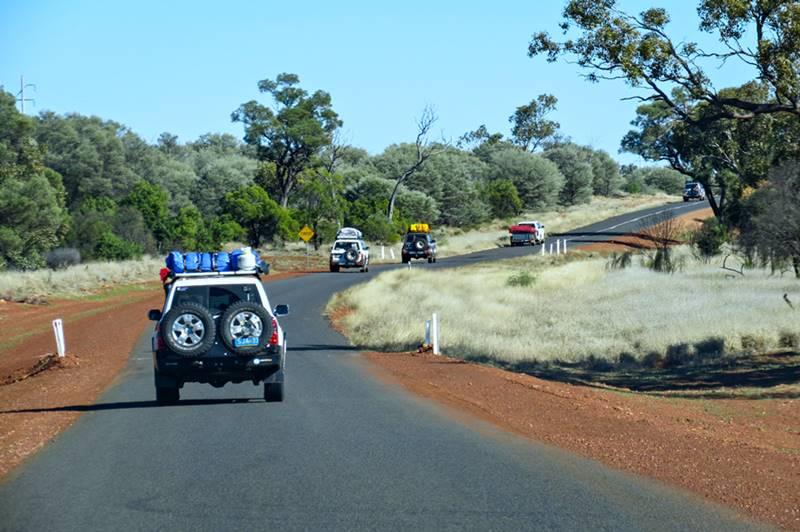 Brisbane to Birdsville - The road to Quilpie was narrower