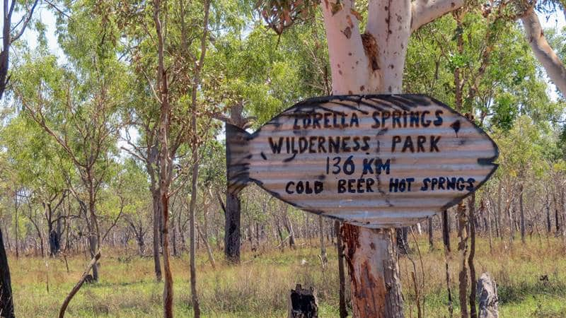 On the way to Lorella Springs