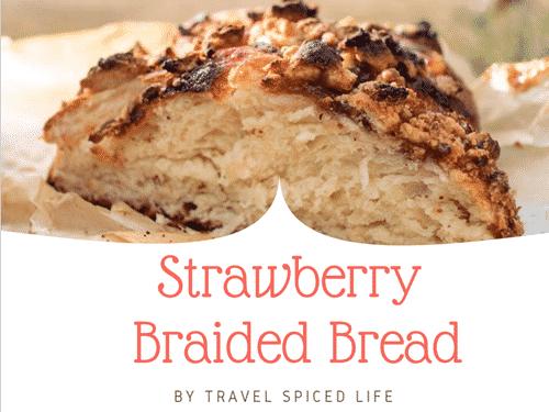 strawberry Braided bread
