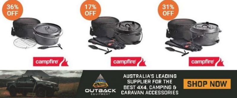 Outback Equipment Camp Ovens